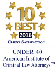 10 Best 2016 Client Satisfaction - American Institute of Criminal Law Attorneys