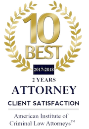 10 Best 2 Years Attorney Client Satisfaction - American Institute of Criminal Law Attorneys